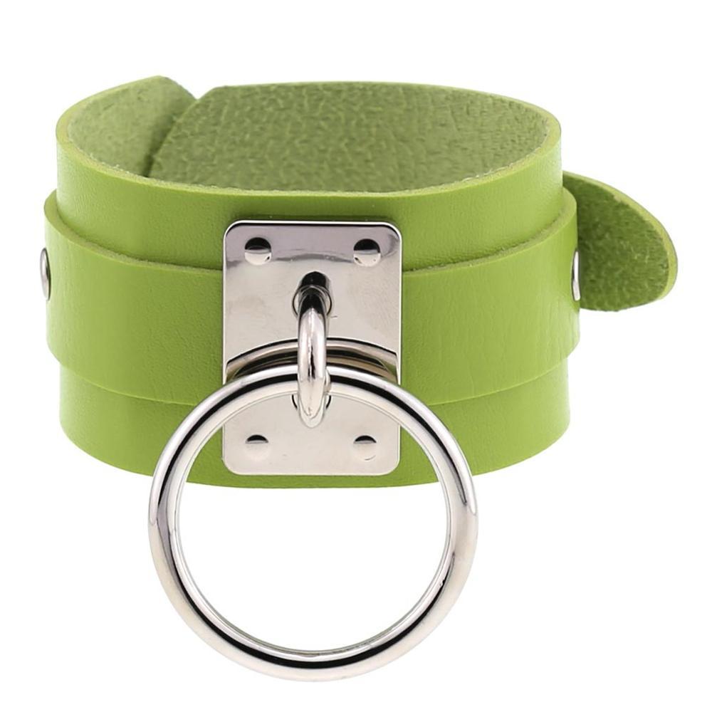 Silver Green Bracele