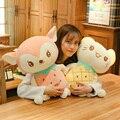 Novo 1pc 23 cm-50 cm kawaii frutas gato & veados brinquedos de pelúcia recheado bonito animal boneca para crianças do bebê macio dos desenhos animados travesseiros presente de natal