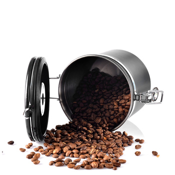 Metal Coffee Storage Coffee Container Storage Canister Bottle Stainless Steel  Coffee Storage Jar Nut Sugar Tea Container 5