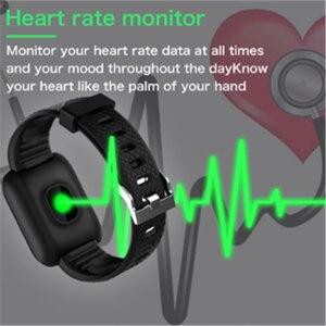 Image 3 - スマートウォッチ 116 プラスカラー画面心拍数リストバン腕時計スマートバンド防水スマートウォッチandroid ios