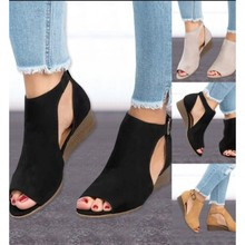 Women'S Sandals 2018 Summer Slope With All-In-One Belt Floral Side Slope With Thick-Soled Fairy Shoes