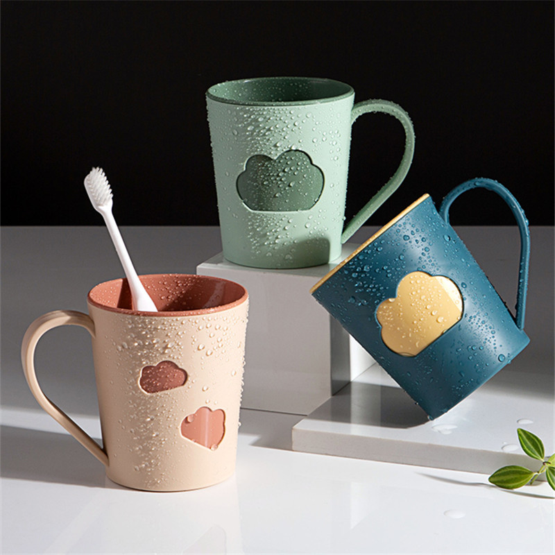 Cloud Gargle Cup Lovers Toothbrush Cup Tooth Glass Travel Water Cup Drinking Mugs Plastic Bathroom Cups Washing Mouth Cup