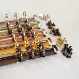 Image 5 - 100pcs Colorful Metal Screws for Spiral Binder Loose Leaf  Clip 5Colors Silver/Bronze/Red bronze/Grey/Golden 4mm/7mm/10mm sizes