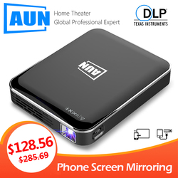 Aun Mini Projector X3, Android/Ios Telefoon Screen Mirroring, Multimedia Systeem, draagbare Projector Voor 1080P Home Cinema, 3D Beamer