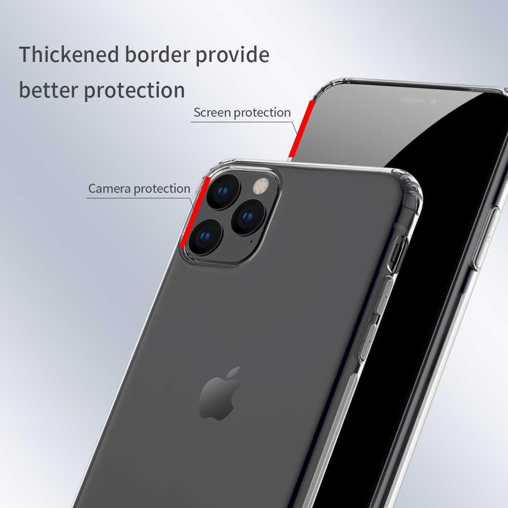 Custodia morbida per iPhone 11 Pro Max 5.8/6.1/6.5 Nillkin Natura Trasparente Trasparente Molle Del Silicone di TPU Della Copertura Per Il iPhone 11 Pro Caso involucro