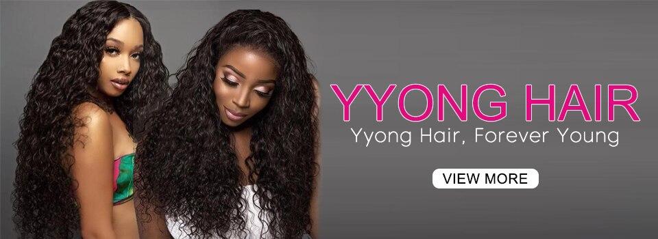 Yyong cabelo 5x5 fechamento do laço onda