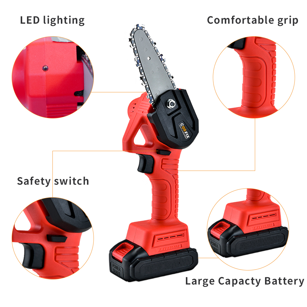 Battery Chainsaw Lithium Chainsaw Mini 24V One Electric COOFIX Pruning Portable Rechargable And Garden Handed For Woodwoking