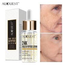 Auquest 24k ouro rosto soro skincare anti rugas hidratação clareamento cosméticos pele levantamento essência para cuidados com o rosto 15ml