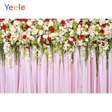 Yeele Wedding Party Photocall Flower Curtain Decor Photography Backdrops Personalized Photographic Backgrounds For Photo Studio