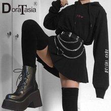 Брендовые новые женские ботинки doratasia на высоком массивном