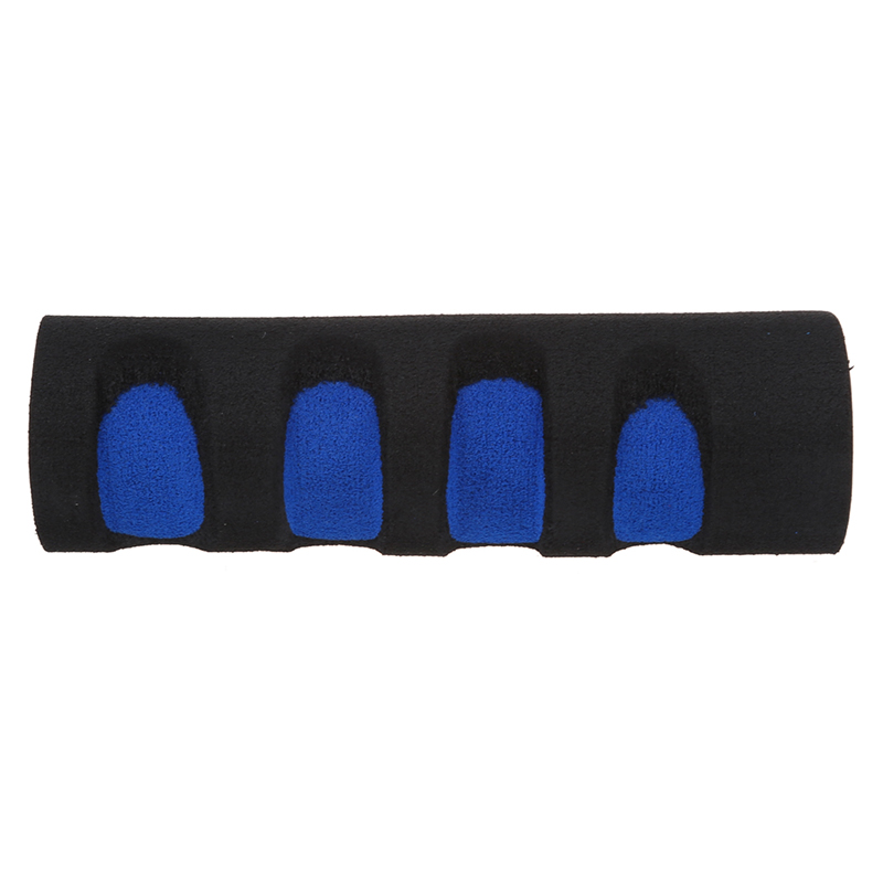 2 Pcs Bike Bicycle Anti Slip Sponge Handlebar Grip Black Blue Free Cable Tie in Bicycle Grips from Sports Entertainment