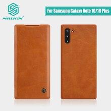 Pour Samsung Galaxy Note 10 étui 6.3 NILLKIN Vintage Qin Flip couverture portefeuille PU cuir PC pour Samsung Note 10 Plus étui 6.8
