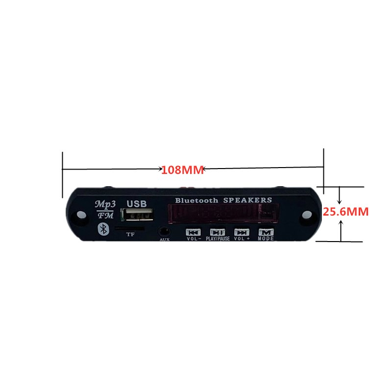 12V Bluetooth5.0 MP3 Decoding Board Module Wireless Car USB MP3 Player TF Card Slot / USB / FM / Remote Decoding Board Module