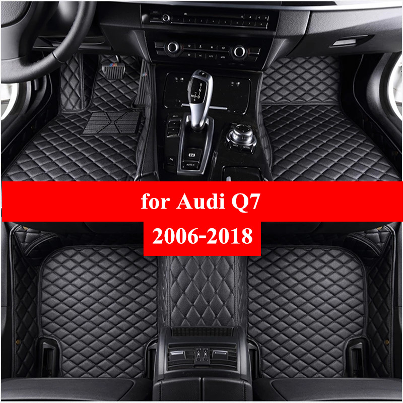 Автомобильные коврики для Audi Q7 2006 2007-2014 2015 2016 2017 2018 Flash Mat кож специальные подушечки автомобильный коврик автомобиля чехлы