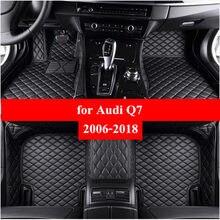 Esteiras do assoalho do carro para audi q7 2006 2007-2014 2015 2016 2017 2018 flash esteira de couro personalizado almofadas pé automóvel tapete carro cobre