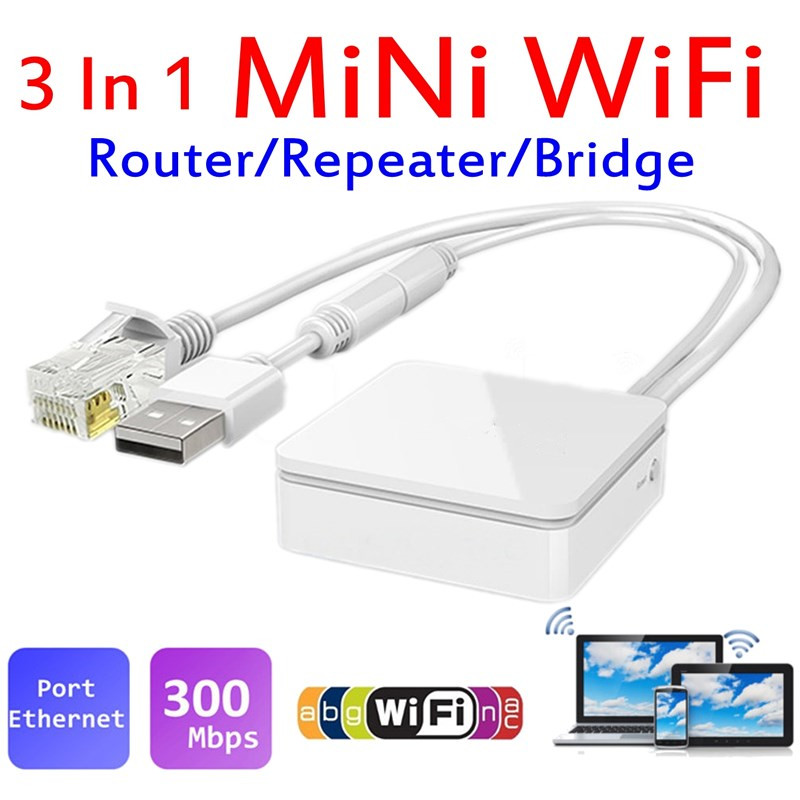 VONETS Wireless APs Bridge Dongle Router Repeater VAR11N-300 Wi-Fi to Ethernet  Support firewall Wireless Bridge Router Wifi