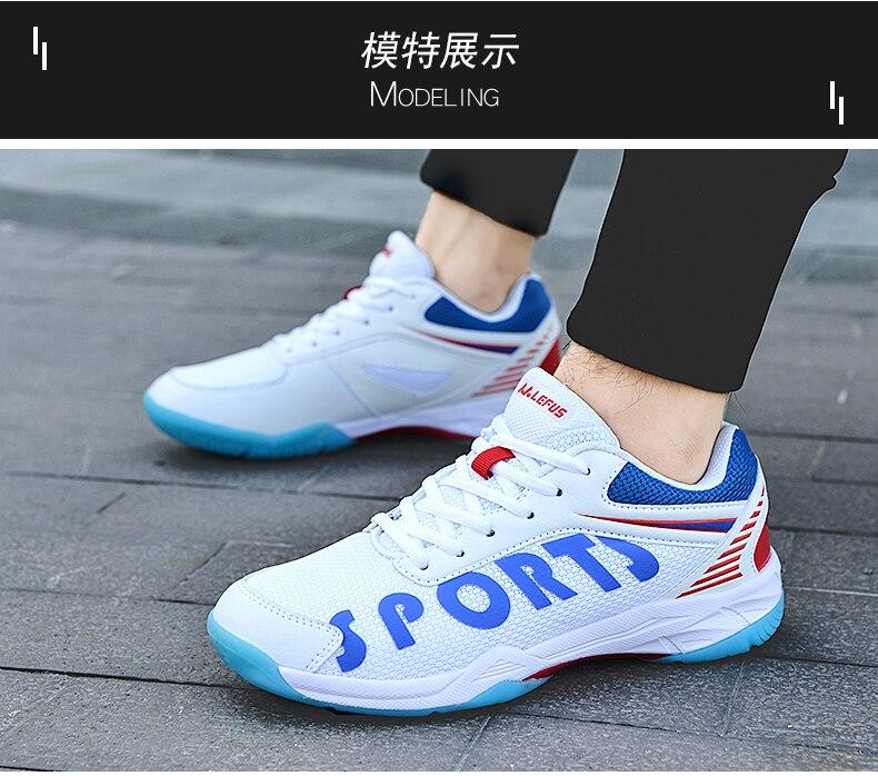 Profissional voleibol badminton sapatos para homens das