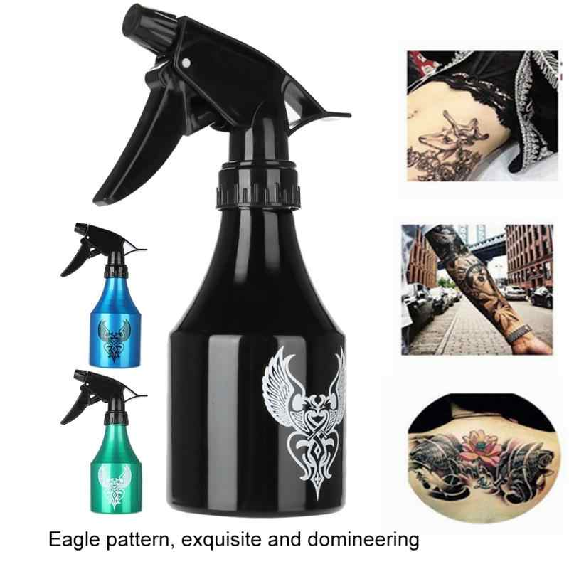 250ML/300ml Professional Aluminum Tattoo Spray Bottle Green Algae Tattoo Cleaning Squirt Spray Pigment Blue Soap Bottle Supplies