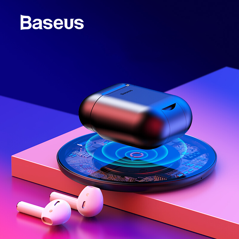 Baseus Wireless Charging Receiver Case For AirPods Silicone TPU Ultra Thin Case For Apple Airpods Support Wireless Charging