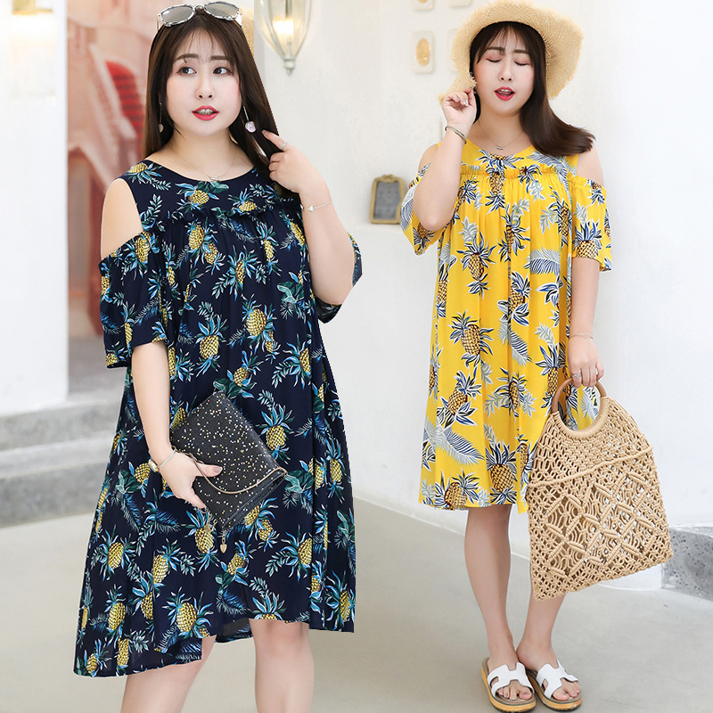 [Xuan Chen] Summer New Products Plus-sized WOMEN'S Dress Large GIRL'S Dress Pineapple Sweet Skirt On Behalf Of A185