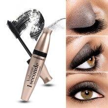 4 D fiber silk mascara Black Eye mascara Long Eyelash Silicone Brush Curving Lengthening mascara Waterproof Makeup New cosmetics