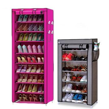 Actionclub 7 Layers 10 Layers Shoes Storage Cabinet DIY Assembly Shoe Shelf Dustproof Moistureproof Large Capacity Shoe Rack