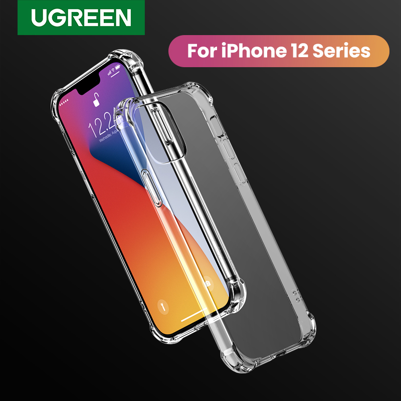UGREEN Soft Phone Case for iPhone 12 Pro Max 2020 Shock-proof PU Rubber Back Cover Case for iPhone12 5.4 inch Mobile Phone Case