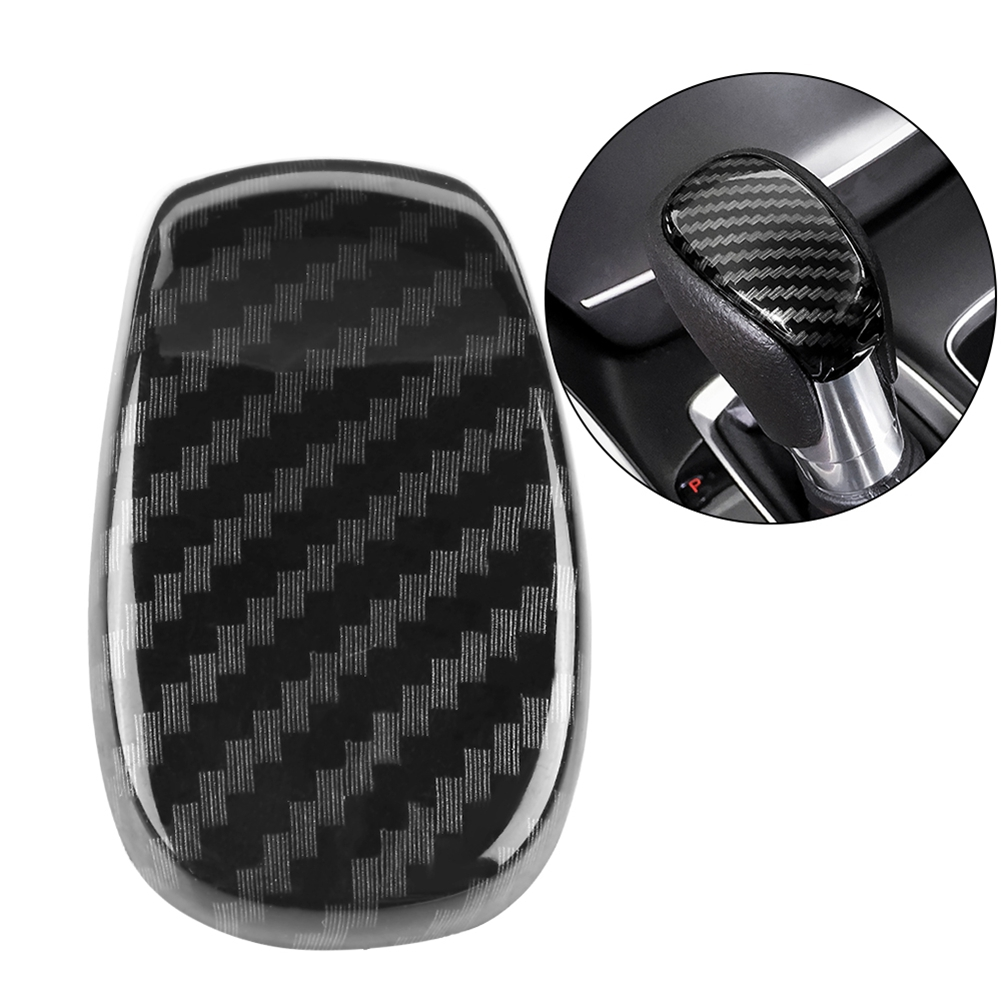 Interior Gear Shift Knob Trim Car ABS Carbon Fiber Style Decoration Sticker for <font><b>Honda</b></font> <font><b>Accord</b></font> <font><b>2018</b></font> car <font><b>accessories</b></font> interior image