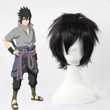 Anime Naruto Shippuden Cosplay Wigs Sasuke Uchiha Cosplay Wig Heat Resistant Synthetic Wig Hair Halloween Party Game Cosplay Wig anime diy cosplay wig death note kirito uchiha sasuke male black short curly wig show