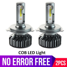 Mini H4 Led H7 Car Headlights COB Perfect High Low Beam Auto Lamp 9005 HB3 HB4 Led H11 H8 Fog Lights Bulb 6000K 12V 12000lm(China)