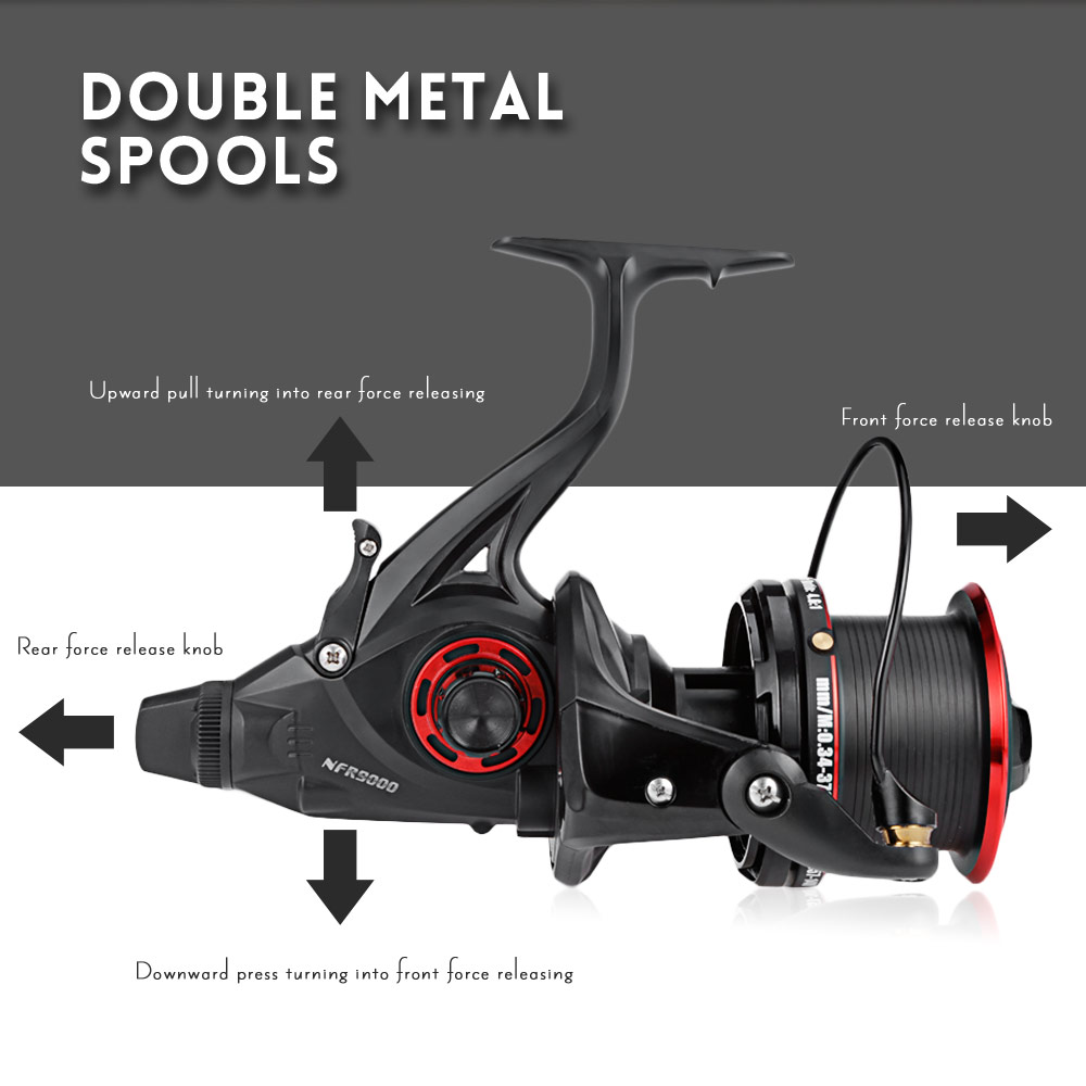 COONOR NFR9000 + 8000 12 + 1BB 4.6:1 Full Metal Spinning Fishing Reel with Double Spool