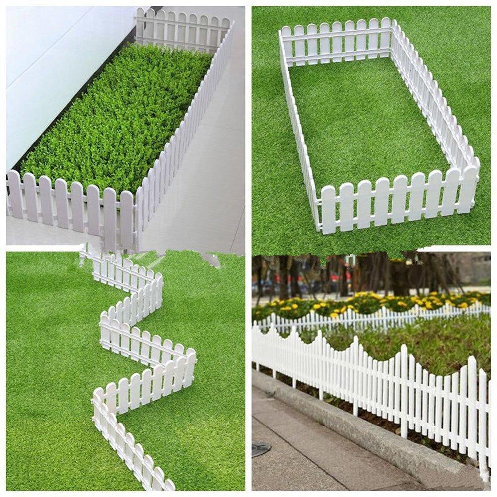 1Pc Plastic Fence Christmas Tree Ornament Holiday Showcase Garden Props Decor DIY Garden Gates Miniature Small Wood Fencing Xmas