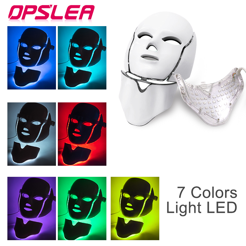 Led Therapy Mask with Neck Light Face Mask Therapy Photon Led Facial Mask Korean Skin Rejuvenation Skin Care Led Mask Therapy