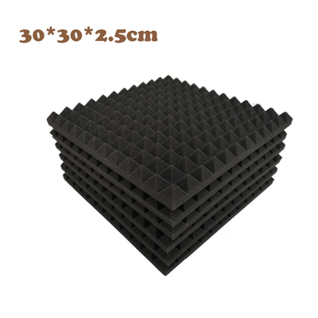 Pyramid Soundproofing Foam Sound Absorption Studio Treatment Wall Panels 30*30*2.5cm Acoustic Foam High Density Flame Retardant