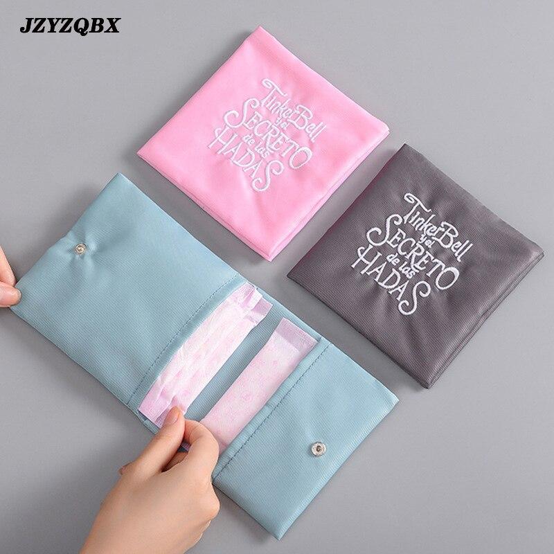 Embroidery Makeup Bag Travel Bag Waterproof Double-layer Cosmetic Bag Portable Sanitary Napkin Bag Kosmetyczka