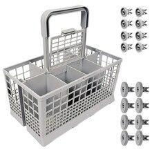 Universal lavavajillas cubertería cesta portátil caja de almacenamiento de plata vajilla soporte seco tenedor cuchara