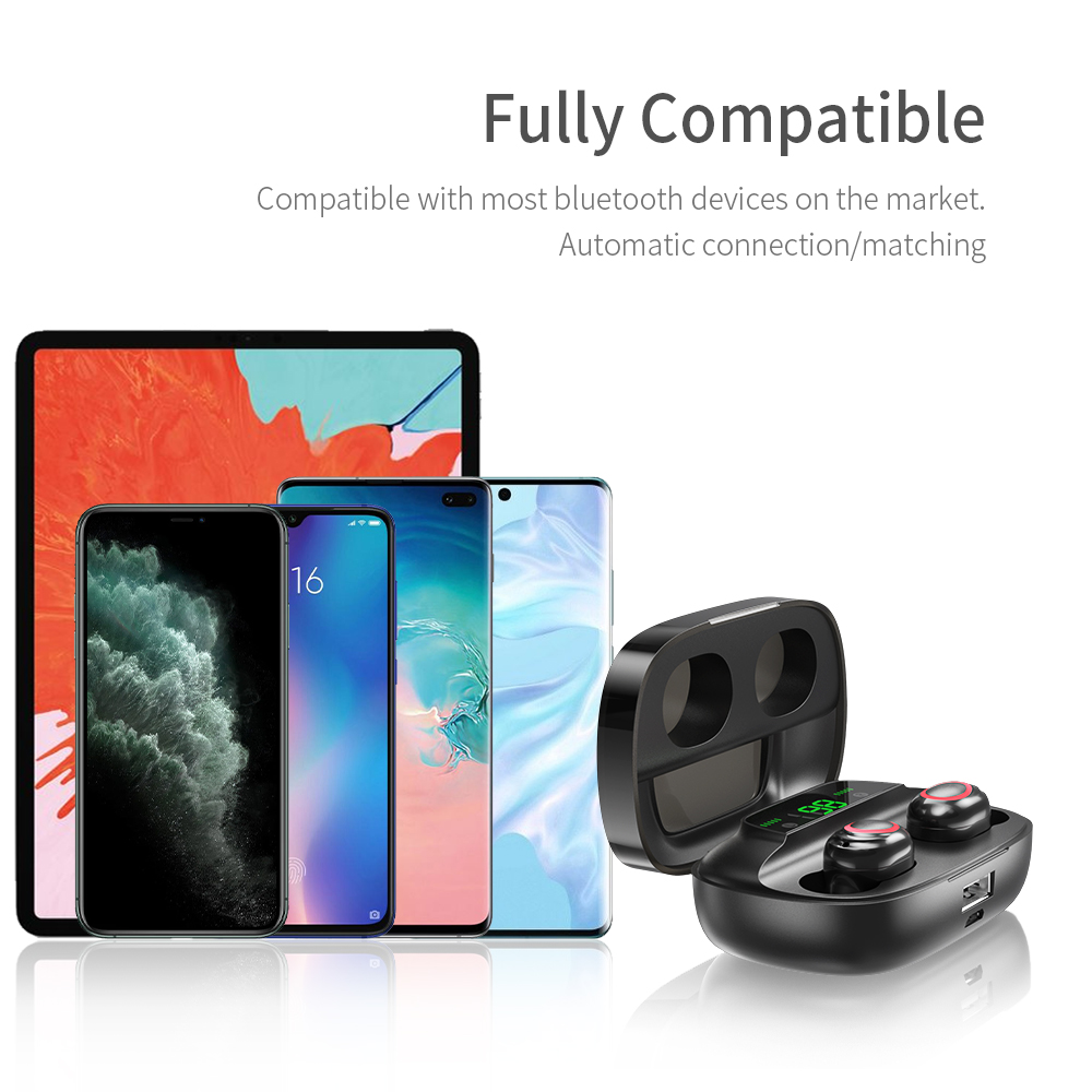Essager S11 TWS Wireless Bluetooth 5.0 Earphone Headphones Mini Cordless Headset True Wireless Earbuds For Phone Xiaomi iPhone