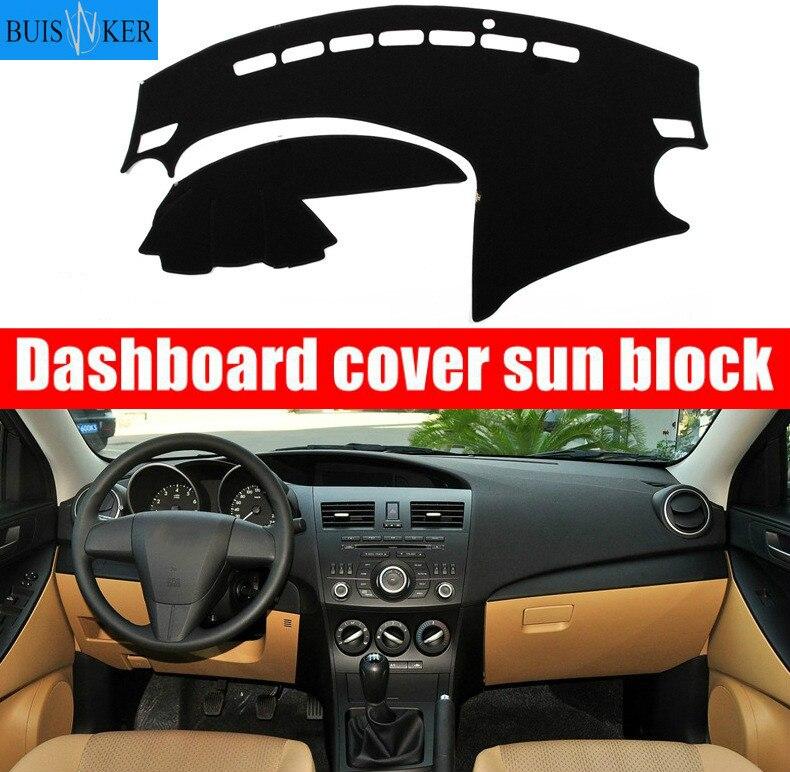 Крышка приборной панели автомобиля Dash коврик для Mazda 3 BL 2009 2010 2011 2012 2013 автомобильный нескользящий солнцезащитный коврик