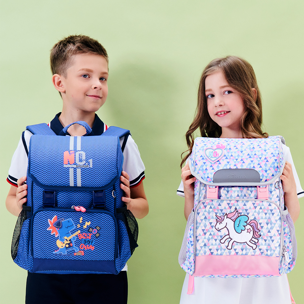 Sunveno New Children School Bags Large Teenagers Backpack Printed Waterproof Bagpack With Reflective Strip For Boys And Girls