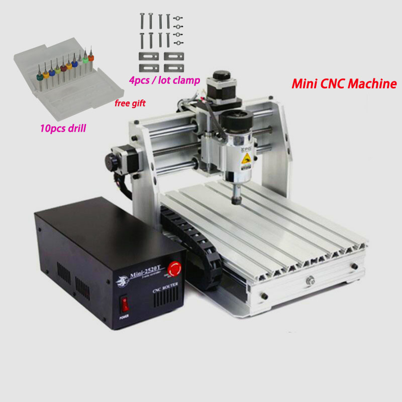 LY Mini Milling <font><b>CNC</b></font> Router <font><b>200W</b></font> <font><b>Spindle</b></font> Lathe Engrave Machine Woodworking Router With Free Gift 10 pcs drill and 4pcs clamp image