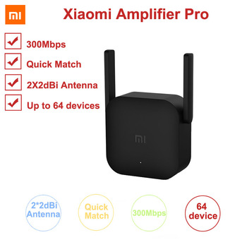 Xiaomi 300M Amplifier Pro WiFi Repeater Network Expander Power Extender Roteador 2 Antenna for Mi Router Wi-Fi Amplificador APP dual band 600mbps mi usb 3 0 wifi amplifier wireless router expander 2 3dbi antenna wi fi booster network signal amplifier mi