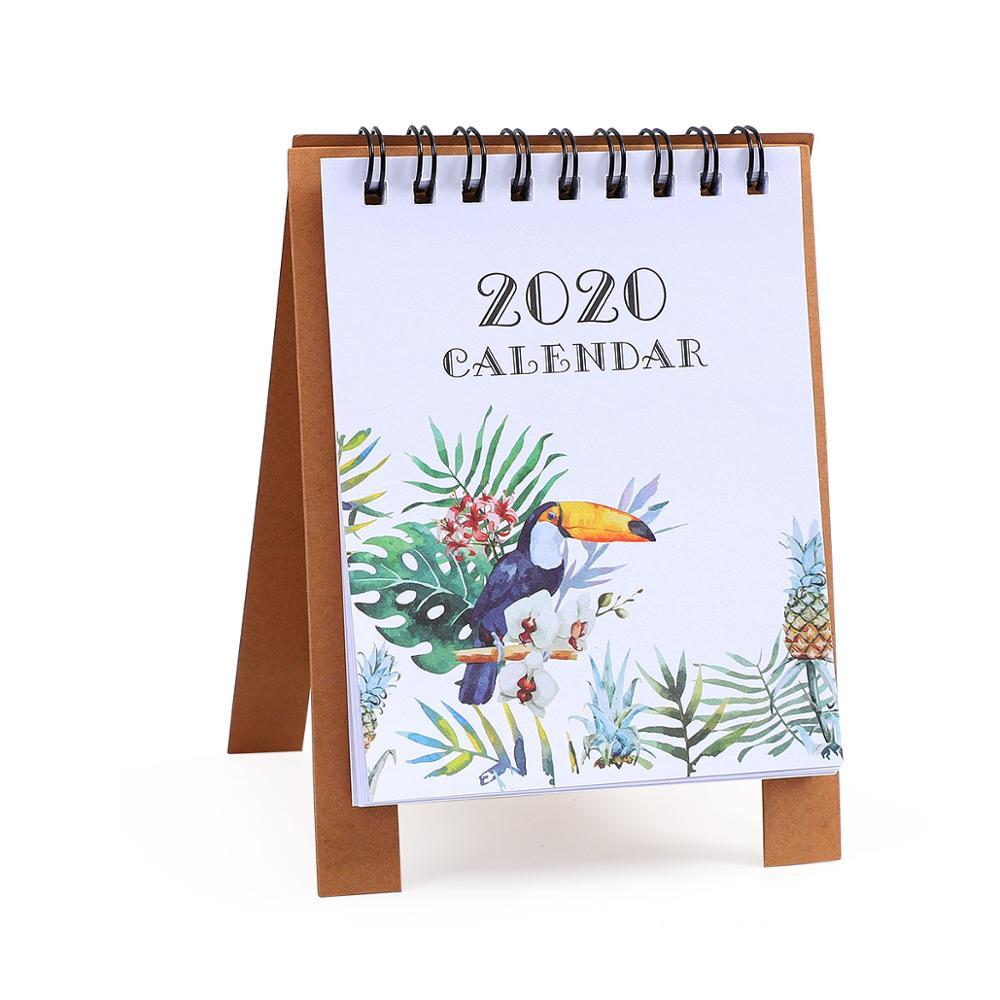 JIANWU милые Мультяшные животные настольный мини-календарь, школьный офис, кавайный планировщик, Настольный календарь - Цвет: dazuiniao
