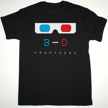 Kraftwerk 3-D Black White Mens T Shirt Electronic Synth Krautrock Organisation Birthday Gift Tee Shirt