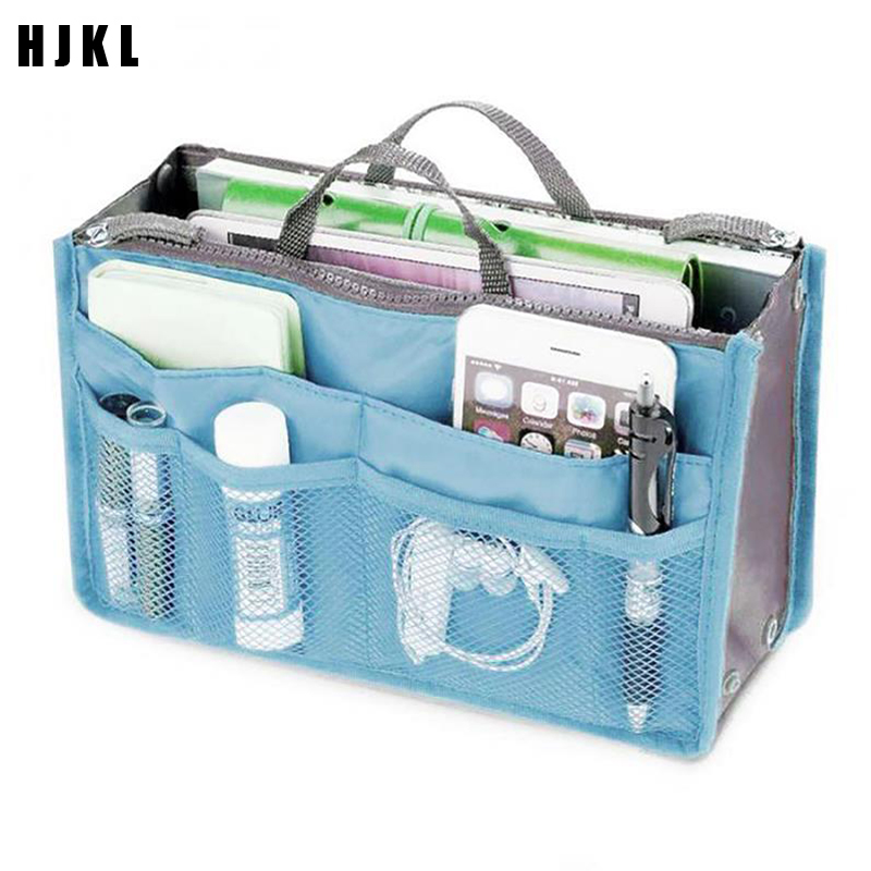 Organizer Insert Bag Women Purse Large Liner Lady Makeup Cosmetic Bag Cheap Female Tote Nylon Travel Insert Organizer Hand Bag