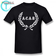 Acab T Shirt A C B Football ACAB Soccer T-Shirt Men Print Tee 100 Cotton Funny Short-Sleeve 6xl Beach Tshirt