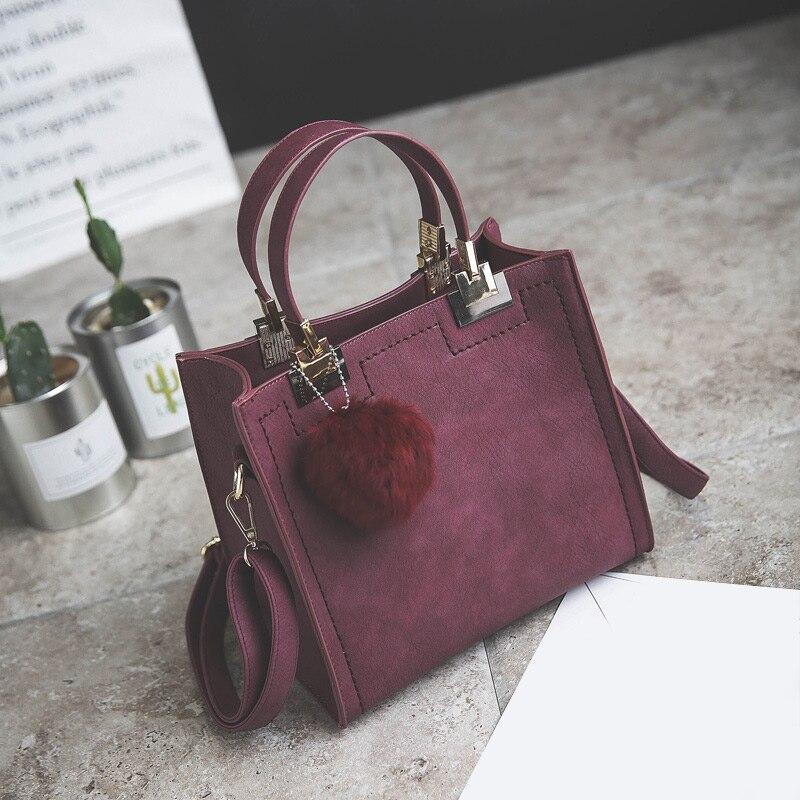 Плечи Марка Конструкторы сумки для женщин PU кожаного Hairball Подвески сумочки Леди Сумка для женщин Сумка|Сумки с ручками|   | АлиЭкспресс
