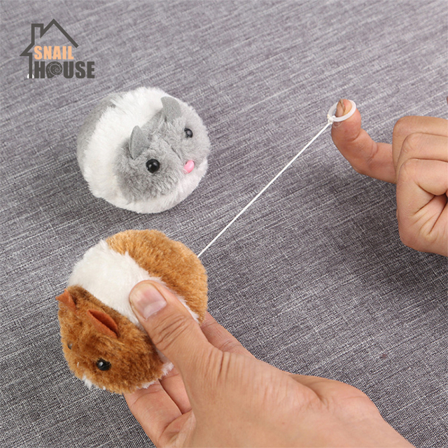 Cute Cat Toys Plush Fur Little Mouse Interactive 1