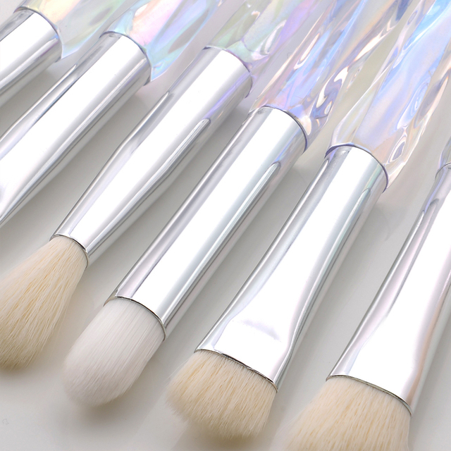 FLD Diamond makeup brushes Set Cosmetic Blush brush Powder Foundation Brush Eye Shadow Lip Eyebrow  Makeup Kit Brushes 5