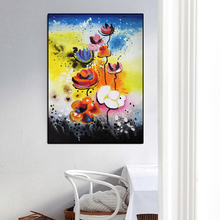RELIABLI Abstract Print Colorful Flower Pop Art Canvas Painting Wall Posters and Prints Quadro Pictures For Living Room