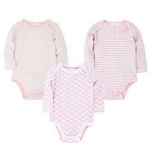 Одежда для новорожденных; розовый комбинезон; 3 шт/лот; roupa